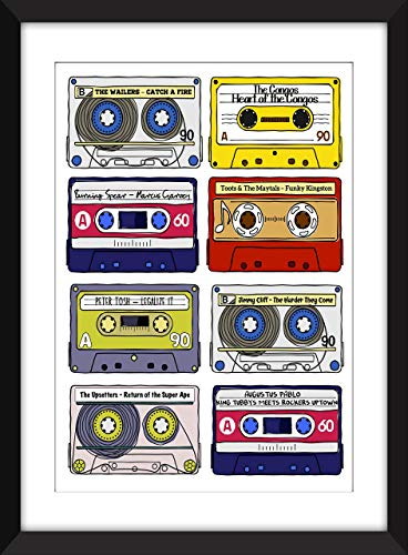 Classic Reggae Albums - Unframed Print - Ideal Gift for Reggae Fan/Ungerahmter Druck