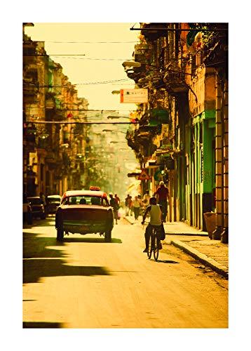 Komar Cuadro de pared | Cuba Streets | Póster, cuadro de salón, dormitorio, decoración, impresión artística | sin marco | P122A-50x70 | Tamaño: 50 x 70 cm (ancho x alto)