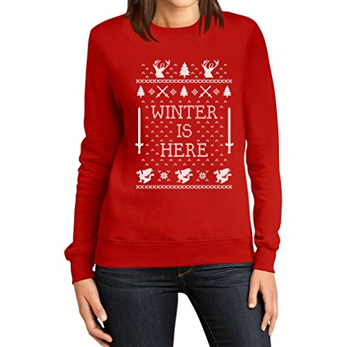 Winter is Here - Weihnachtsmotiv GOT Frauen Sweatshirt Small Rot