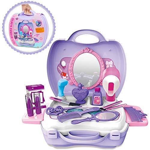 GizmoVine Prinzessin Rollenspiel Schminkset Spielzeug Schminksachen Schönheit Koffer Umhängetasche...
