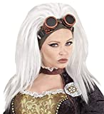 Mega_Jumble® Ladies Steampunk Wig With Goggles Victorian Accessory- Vintage Retro Wig | Steampunk Wig | Short Hair Peruke | Gothic Hairstyle Women Fancy Dress