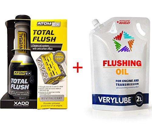 XADO Set für Motorreinigung und Motorspülung - 1x Total Flush + 1x Spülöl