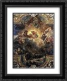 Apollo Slays Python 20x24 Black Ornate Frame...