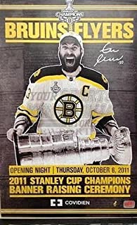 Zdeno Chara Boston Bruins signed autographed OPENING NIGHT w Stanley Cup  poster e35cf647e00d
