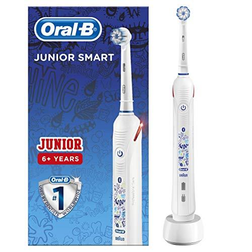 Oral-B Spazzolino Elettrico Ricaricabile Junior Smart,1 Manico, 1 Testina di Ricambio, per Età da 6 Anni