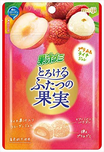 明治 果汁グミとろけるふたつの果実プラム&ライチ 52g ×10袋