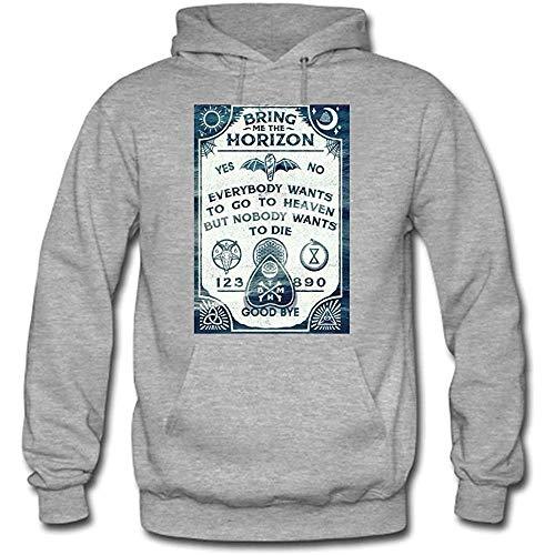 Bring Me The Horizon Custom Men's Hoody Hoodie Hooded Sweatshirt (Gray)