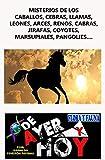 Misterios de los caballos, cebras, llamas, leones, arces, renos, cabras, jirafas, coyotes, marsupiales, pangolies, visones