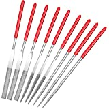 9 Pieces Miniature and Model Files, Includes Diamond File Set of Round, Flat and Triangular Metal File