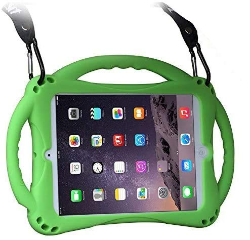 TopEsct Kids Case for ipad 2 3 4, Shockproof Handle Stand Case with Pencil Holder Compatible with Apple iPad 2,iPad 3,iPad 4(Green)