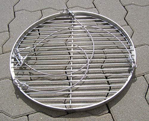 40 cm Grillrost Edelstahl Stababstand 14/15 mm V2A 1.4301 f. Grill Schwenkgrill Feuerschale Dreibein Feuerstelle rund