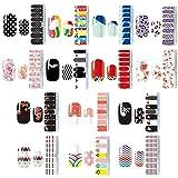 Nagelsticker,Nagelaufkleber,Nagelkunst Sticker Selbstklebende Maniküre Sticker Schöne Mode DIY Dekoration 14 Blatt (196pcs) Nagelsticker