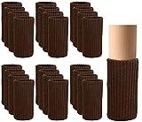 Calcetines para Silla CHEPL 24 Piezas Calcetines para Patas de Silla Antideslizantes Elásticas Protectores para Patas de Silla Tejido de Punto para Pies de Muebles