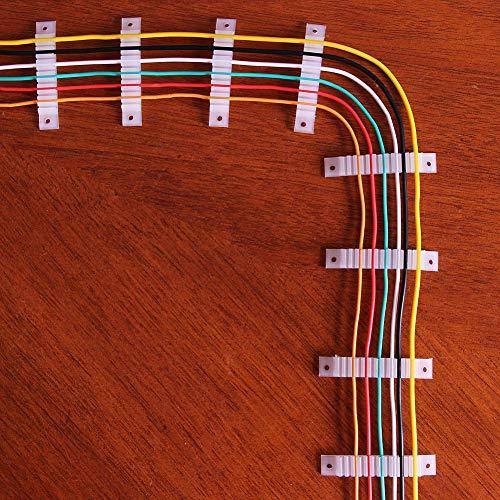 Evemodel 50 Stück Kabelhalter Einstellbare Kabelschelle Modellbahnzubehör Litzenhalter Kabel Befestigungsmaterial NEU SW34-50-EU