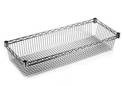 ARCHIMEDE système composable Étagère Rangement, métal, chromé, 121 x 46 x 15 cm