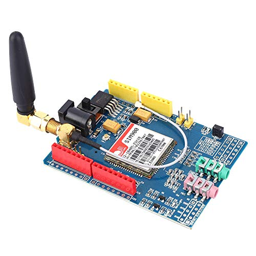 Esenlong Entwicklungsboard-Modul-Kit Passend für Sim900 850/900/1800/1900 MHz GPRS/GSM Blau