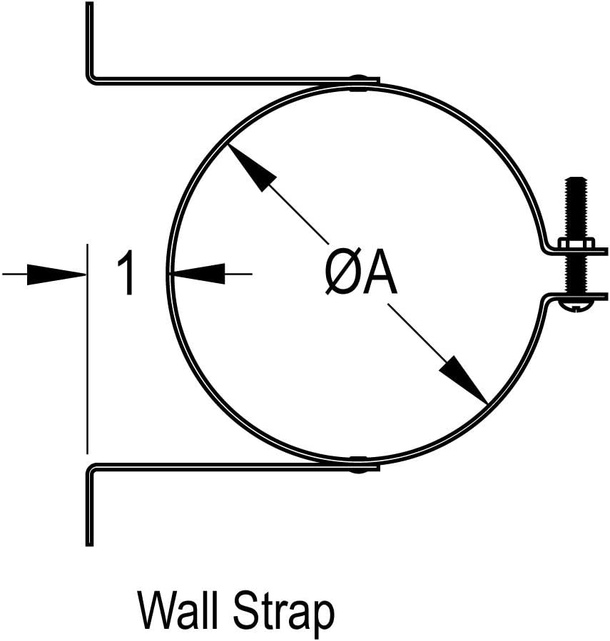 Durable Size Diameter: 4 DuraVent Brand 260404 4 Wall Strap B-Vent Set of 2 Material Aluminum