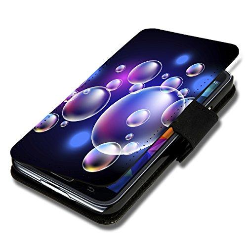wicostar Book Style Flip Handy Tasche Hülle Schutz Hülle Schale Motiv Foto Etui für LG Bello 2 / Bello II - Flip X12 Design11