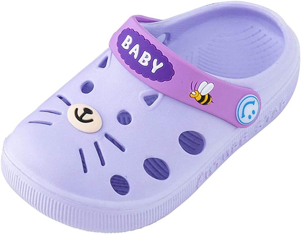 Toddler Little Kids Comfort Clogs Slip On Garden Slippers Shoes Water Sandals Boys Girls Lightweight Pool Beach Play Shoe