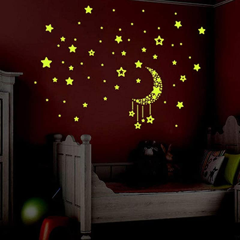 3D Wall Sticker For Kids Room Night Sky Fluorescent Glow In The Dark Stars Home Decoration Accessories Sticker 40X60Cm Yzbz