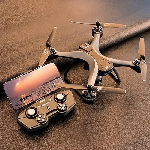 XUANMO 4KGPS Dual-Lente Quadcopter Modo sin Cabeza GPS Posicionamiento Drone F6 Fotografía aérea de Alta definición Profesional Plegable Control Remoto Avión 550G Plegable: 13 * 7 * 6 cm