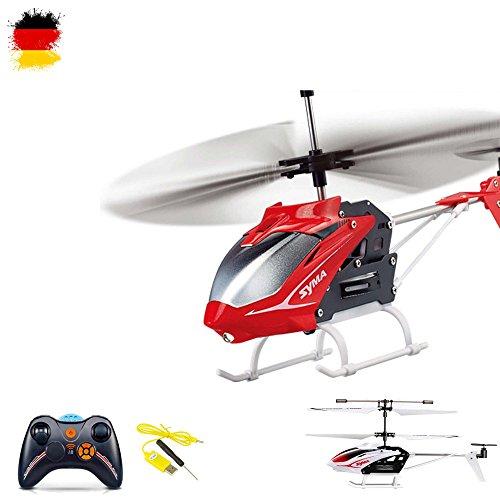 3.5 Kanal RC ferngesteuerter Hubschrauber inkl. Ersatzteile-set, Modellbau-Helikopter mit neuester Gyro-Technik, Ready-to-Fly, Neu