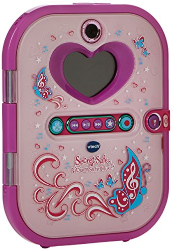 VTech Pink Secret Safe Girls Selfie Diary | Secret Diary for Girls, Educational Toy with Camera, Photos, Music, Game & More | Gifts for Girls Age 5, 6, 7+ Year Olds, Pink