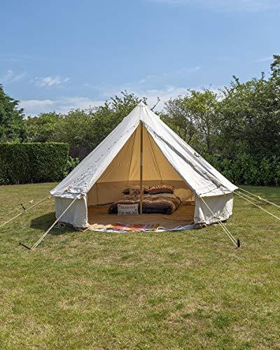 5m Tente Bell avec cheminée 450g/m² sur toile