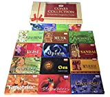 Darshan Incense Cone Collection - Assorted Fragrances - 12 Boxes of Incense Cones, 120 Cones Total