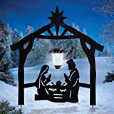 CT DISCOUNT STORE Holy Family Nativity Shadow Garden Stakes with Solar Latern (CelebrateThe True Spirit of Holy Night in Bethlehem)