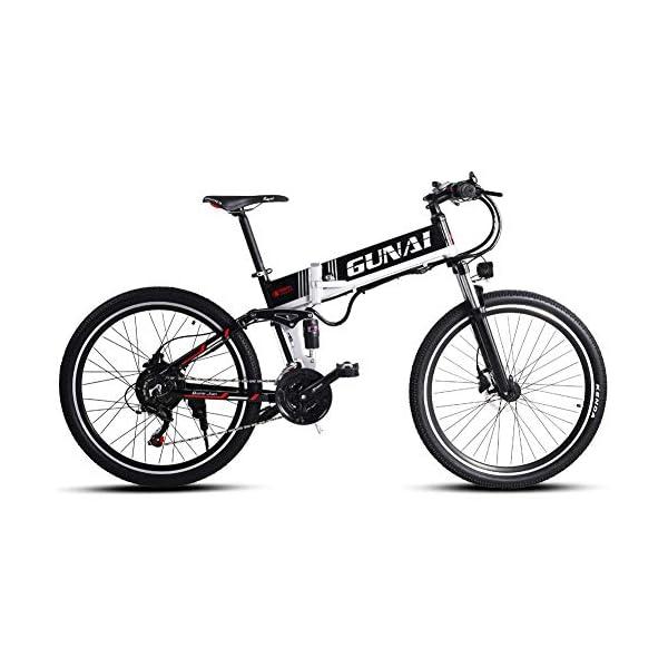51+Zd kzoOL. SS600  - GUNAI Elektrofahrrad 26 Zoll E- Bike Mountainbike 21 Gang Kettenschaltung mit Scheibenbremse