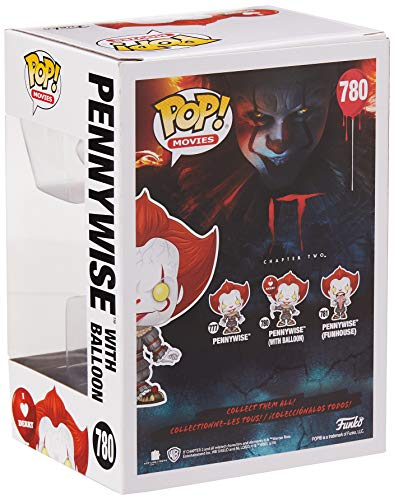 IT Figura Vinilo Chapter 2 - Pennywise with Balloon 780 Unisex ¡Funko Pop!, , 4