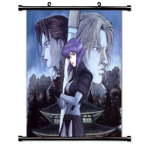 LunBrey Ghost in The Shell Anime Fabric Wall Scroll Poster (32