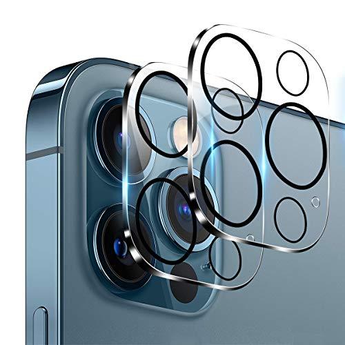 【2枚入】iPhone12Pro カメラフィルム Aerku 日本旭硝子製 iPhone 12 Pro 3眼レンズ保護フィルム 9H硬度 飛散防止 透過率99.9% 気泡防止 ラウンドエッジ加工 iPhone 12 Pro 対応(6.1 インチ)