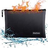 BluePower Borsa ignifuga,38x28cm impermeabile resistente al fuoco sacchetto del documento busta chiusura a cerniera sacchetto,Borsa Lipo antideflagrante,per documenti formato A4, fattura,iPad