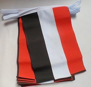 AZ FLAG Guirnalda 6 Metros 20 Banderas de Yemen 21x15cm - Bandera YEMENÍ 15 x 21 cm - BANDERINES