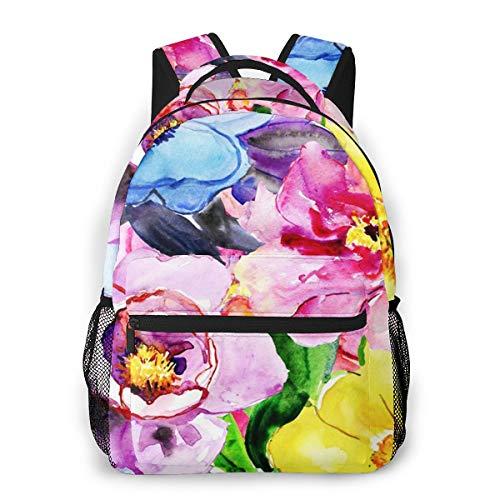 RAHJK Rucksack Typ Casual Schulranzen Rucksack Wasserdicht für Laptop bis 14 Zoll Farbe Rosa Magnolia