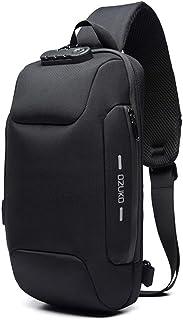 Sling Backpack USB Anti-Theft Men'S Chest Bag Casual Shoulder Bag