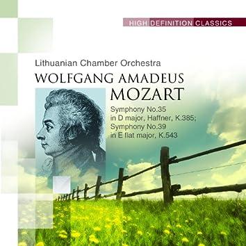 Symphony No.35 in D major, Haffner, K.385; Symphony No.39 in E flat major, K.543
