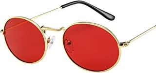 Women Sunglasses, Limsea Vintage Retro Oval Metal Frame Trendy Shades Sunglasses