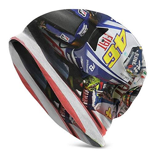 Valentino Rossi - Gorro de invierno para correr, multifuncional, cálido, de punto, para exteriores, resistente al viento, unisex, tamaño elástico