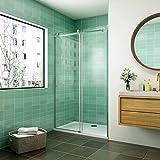 140x195cm Mamparas de ducha puerta de ducha 6mm vidrio templado de Aica