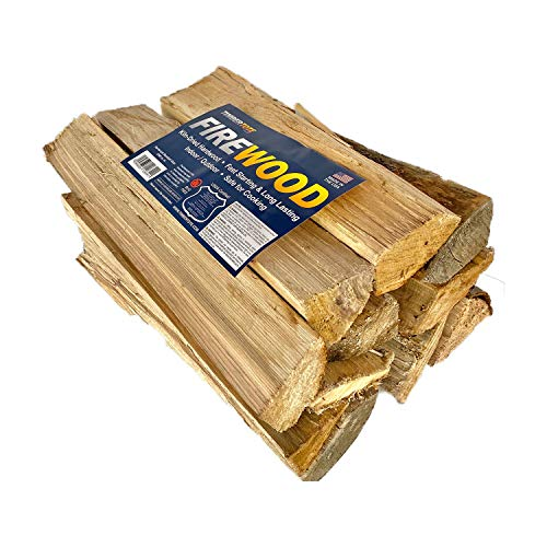 Timbertote 0.75 Cubic Feet Natural Hardwood Mix Fire Log Firewood Bundle for Fireplaces, Campfires, & Firepits
