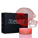 Bigfoot 3D LED Night Light Football Helmet Ohio State Buckeyes Flat Acrylic Illusion Lighting Lamp with 7 Colors and Touch Sensor, Sports Fan Nightlight Gift for Kids, Boys, Girls, Men or Women