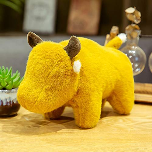 30-45cm härlig tjur kudde nötkreatur plysch leksak fyllda ren färg ko djur leksak för baby gåva fylld docka för samla 45 cm gul