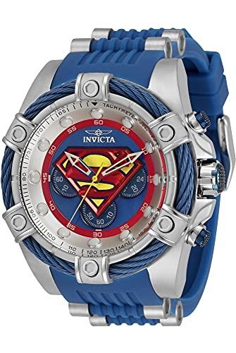 Invicta DC Comics Superman - Reloj cronógrafo de cuarzo con esfera azul 33188