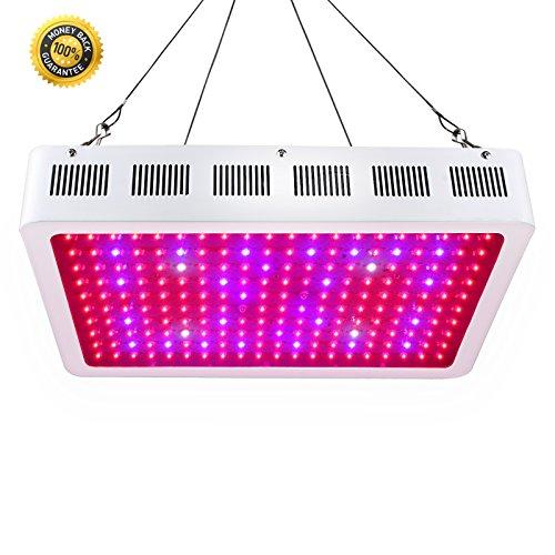 Lampada Coltivazione 600W, Roleadro LED Grow Light con IR UV Luce per Piante Indoor Illuminazione Piante LED Idroponica per Serra Vegetativa/Grow Box/Idroponica/Indoor Fioritura Crescente