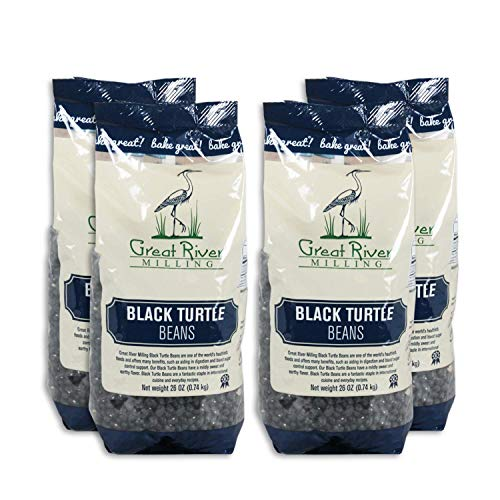 Great River Milling, Black Turtle Beans, Non-Organic, 26 Ounces (Pack of 4)