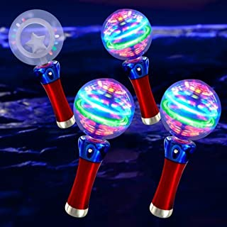 LED Space Ball Spinner Wands: RGB (4-Pack)
