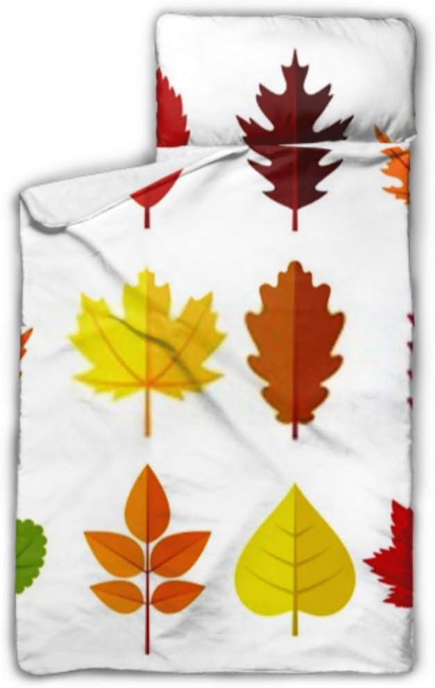 HJSHG Kids Sleeping Bag Award-winning store Colorful Autumn Ranking TOP10 On N Set Isolated Leaves